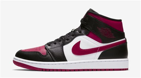 Air Jordan 1 Mid Black Noble Red Available Now
