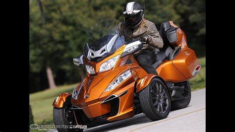 2014 Can-Am Spyder Roadster RT First Ride - MotoUSA - YouTube