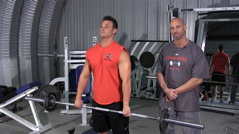 Wide Grip Barbell Upright Row - YouTube