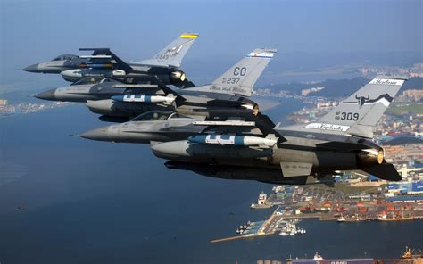Air National Guard F 16 Fighting Falcons Wallpapers   HD