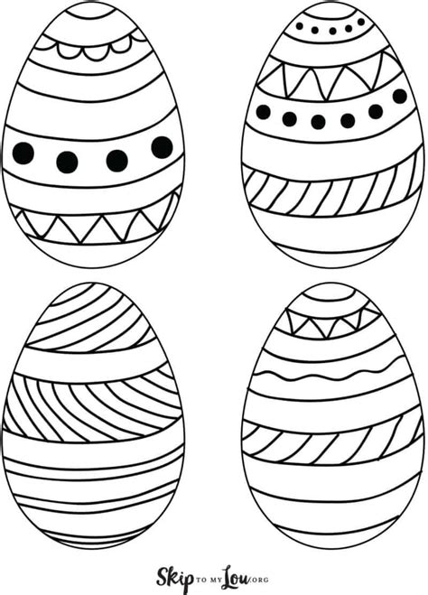 Easter Egg Templates for FUN Easter Crafts   Skip To My Lou