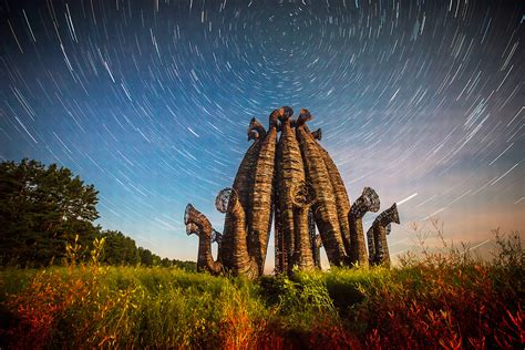 7 stunning must-see land art objects in the village of