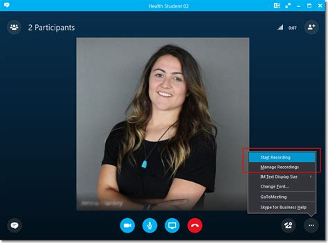 Recording Skype for Business
