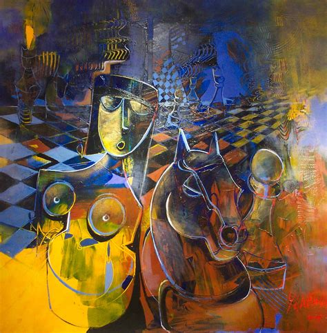 Chess Game Artwork Coming to Life with Three-Dimensional