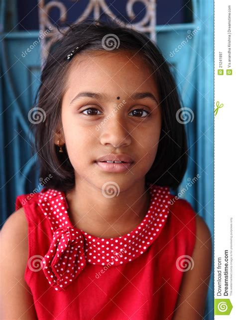 Cute Indian little girl stock image