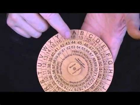 Mexican Army Cipher Wheel - state of the art encryption