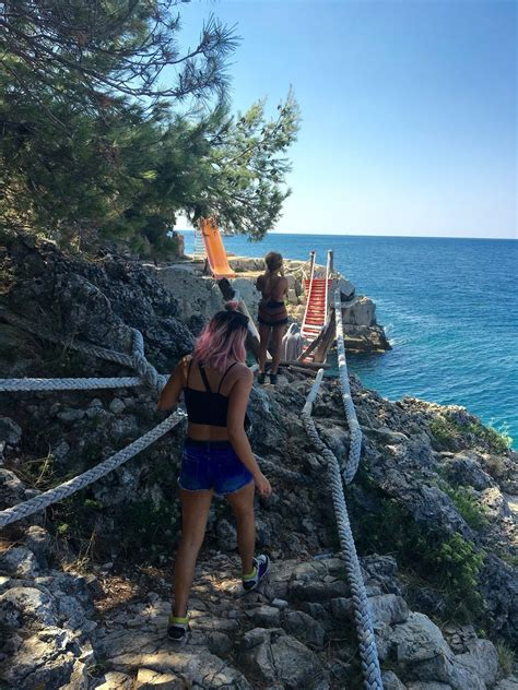 Lost Beach, Pula, Croatia - The moment we found the rope