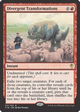Divergent Transformations from Commander 2016 Spoiler