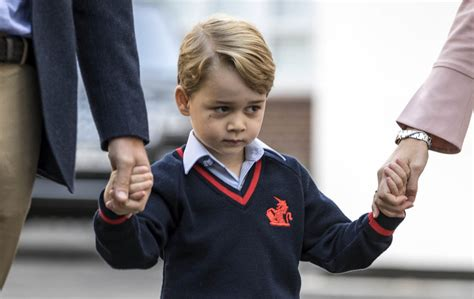 Prince William drops Prince George off for his first day