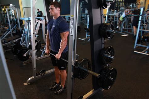 Smith Machine Upright Row Exercise Guide and Video