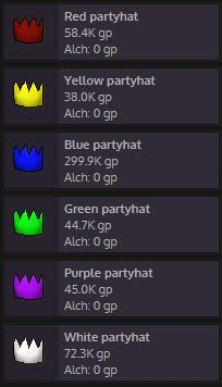 Partyhats and H'weens   RuneScape Money Making - Grand