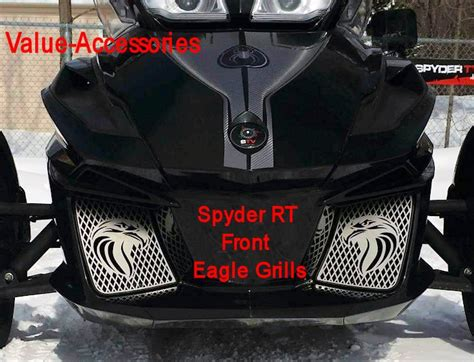 Stainless Front Grills, Spyder RT 14+, (Different Syles)