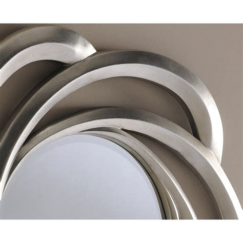 Turin Large Round Silver Swirl Framed Wall Mirror - 31